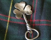 Hand Forged Steel Shamrock Bottle opener