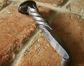 Railroad Spike Bottle Opener - Blacksmith Hand Forged Unique Gift