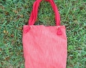 Coral Tote with 2 Pockets