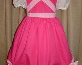 Disney Pink Cinderella Princess Dress(-----)Pink Bows and Sheer Sleeves(-----)Sizes 12M- Girls size 8