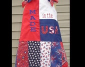Clearance and Ready to ship----------)A-line Princess Party Dress(-----)Independence Day/July 4th(-----)Applique Embroidery(-----)Size 3
