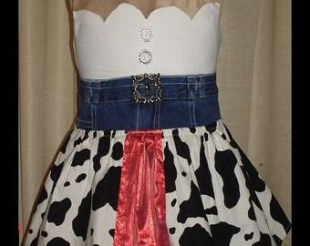 Toy Story Jessie Dress(-----)Custom made(-----)Sizes 12 Months to girls size 8