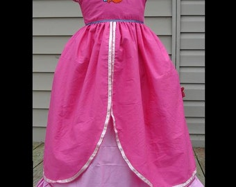 Disney's Ariel Ball Gown(-----)Embroidery and Lots of Ribbon Trim(-----)Custom sized 12 Months to Girls size 8