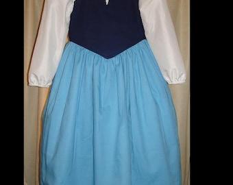 Ariel Land dress(-----)Disney Themed and Custom sized(-----)Sizes 2T to girls size 8