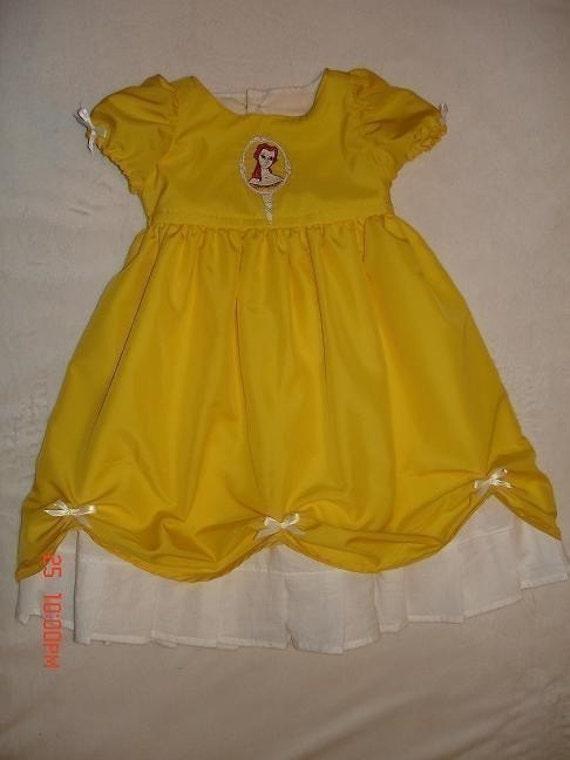 Disney Custom Boutique Princess Belle Dress (-----) Belle Embroidey (-----) 12 Months to Girls Size 8