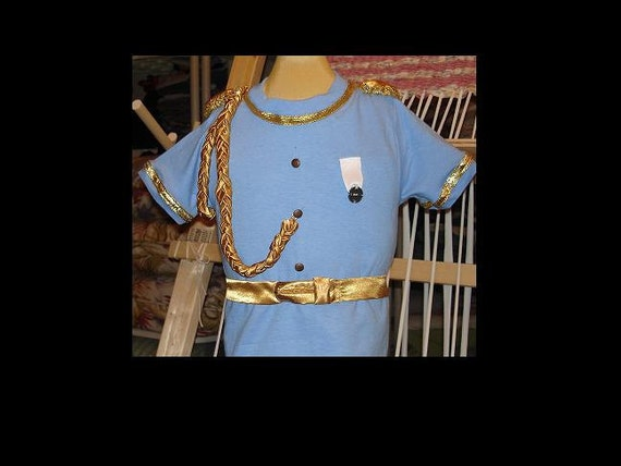 Prince Charming Boys Comfortable Disney themed Shirt(-----)Buttons,Gold trims and Belt(-----)Sizes 12 Months to Boys size 6