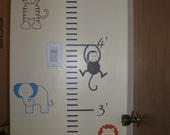 Growth Chart - Nursery Animals - Vinyl Wall Decal