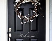 Welcome Front Door Entry Sign Decal Sticker in Vinyl ITEM H1