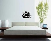 HUGE Pirate Ship - Vinyl Wall Art