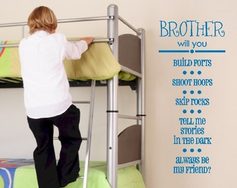 Brother Will You - Vinyl Wall Art