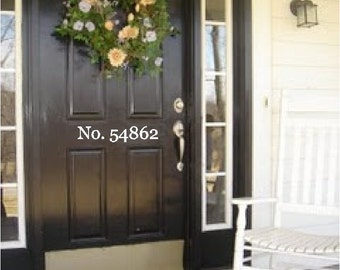 House Numbers Door Address Vinyl Decal Sticker