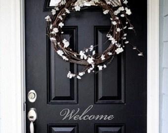 Welcome Front Door Entry Sign Decal Sticker in Vinyl ITEM H1