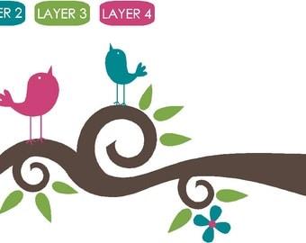 Branch & Birds Vinyl Wall Decor Decal Item TB528