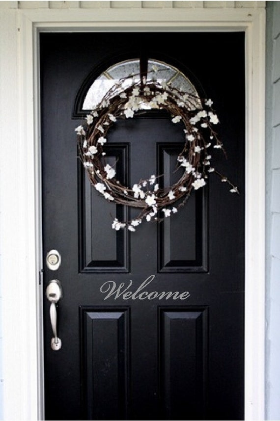 Back Window Decals >> Items similar to Welcome Front Door Entry Sign Decal ...