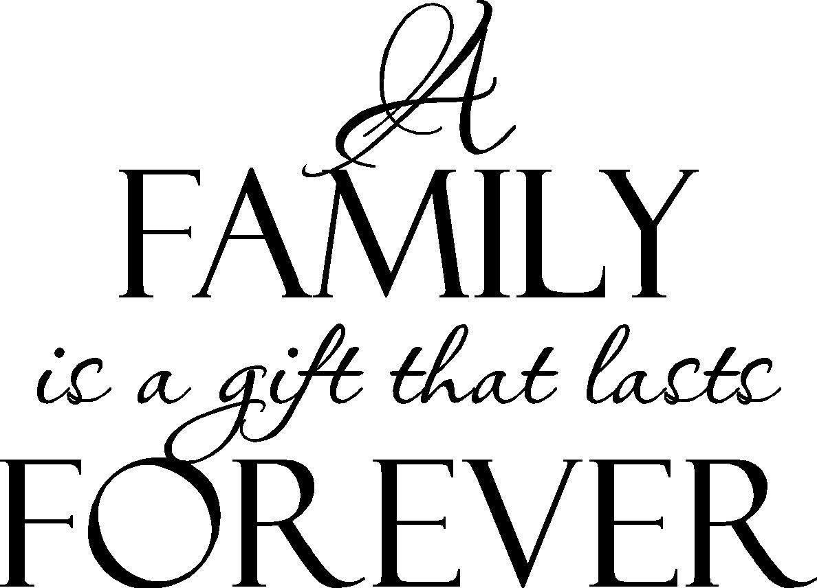 a family is a gift that lasts forever vinyl wall decal fam10. Black Bedroom Furniture Sets. Home Design Ideas