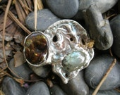 Fire Agate Brooch