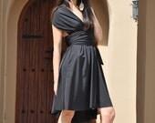 Black Convertible Wrap Dress PICK YOUR SIZE Item 2012