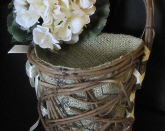 Woodland Flower Girl Basket