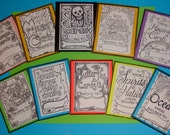 Any Six Coloring  Card Packs- your choice