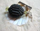 Beachy Paper Earrings - Dk Choco