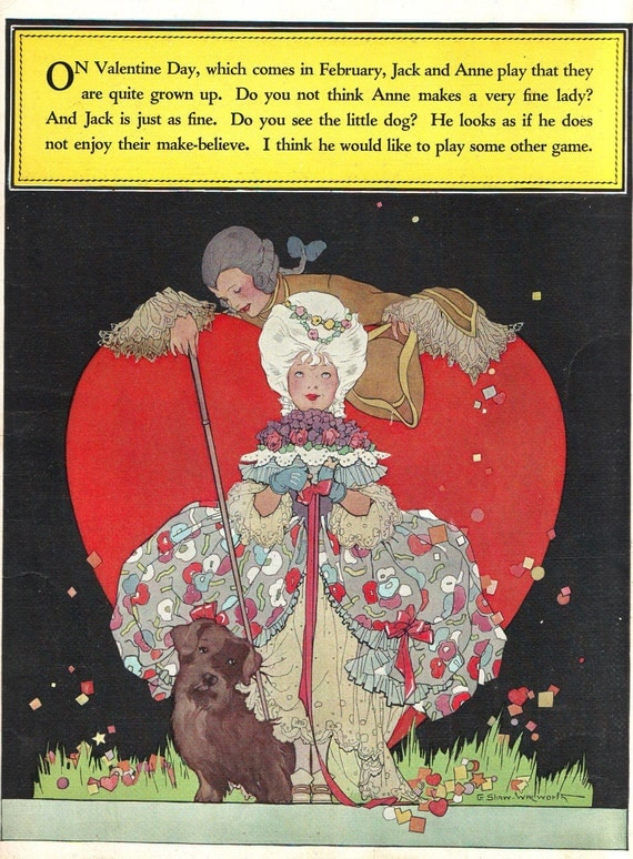 VINTAGE 1920s Ephemera - Spring and Valentines - By Hazel Frazee