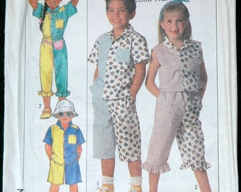 Simplicity 9219 Sz 5 6 6x Childs Shirts, Shorts and Pants UNCUT Vintage 1980s