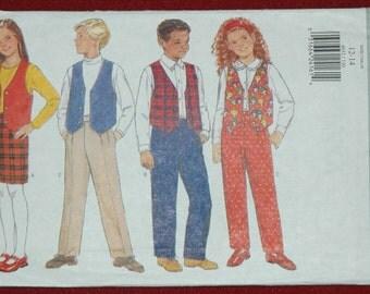 Butterick 4652 Sz 12 14 Girls' / Boys' Vest, Skirt and Pants UNCUT