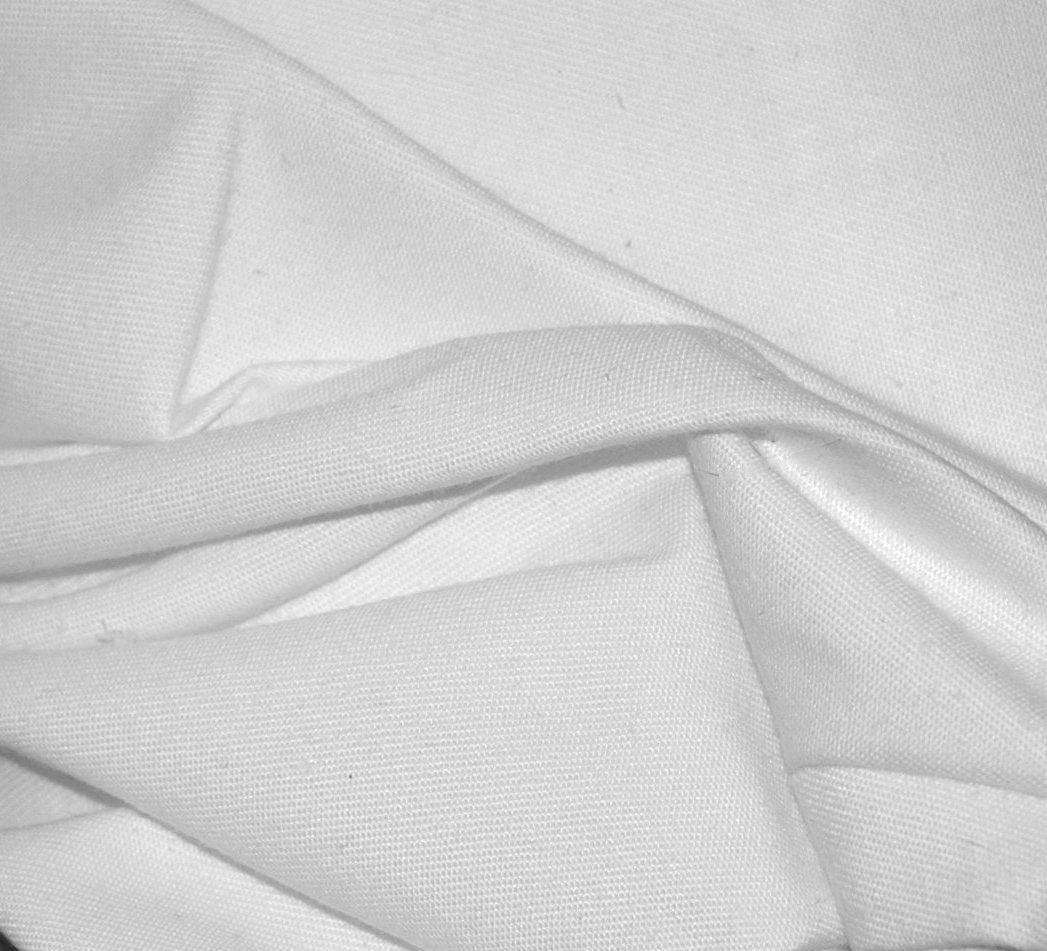 Items similar to white brushed cotton twill fabric free for Brushed cotton twill shirt