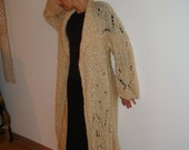 SALE- Ankle lenght hand knitted coat