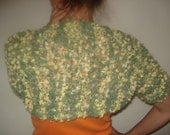 SALE funny green and yellow balloons short sleeves shrug