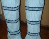 Beautiful blue stretchy leg warmers
