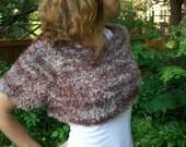 Short sleeved multicolored eyelash mixed shrug - sweater