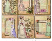 Instant Download - 2.5 x 3.5 - ACEO - Bella Romance - Printable Digital Collage Sheet - Digital Download