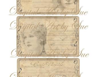 Instant download -Beautiful Past-  Digital Download - Printable  Digital Collage Sheet