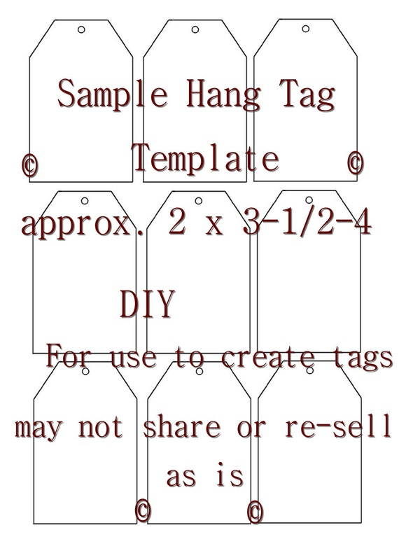 Critical image intended for printable hang tag