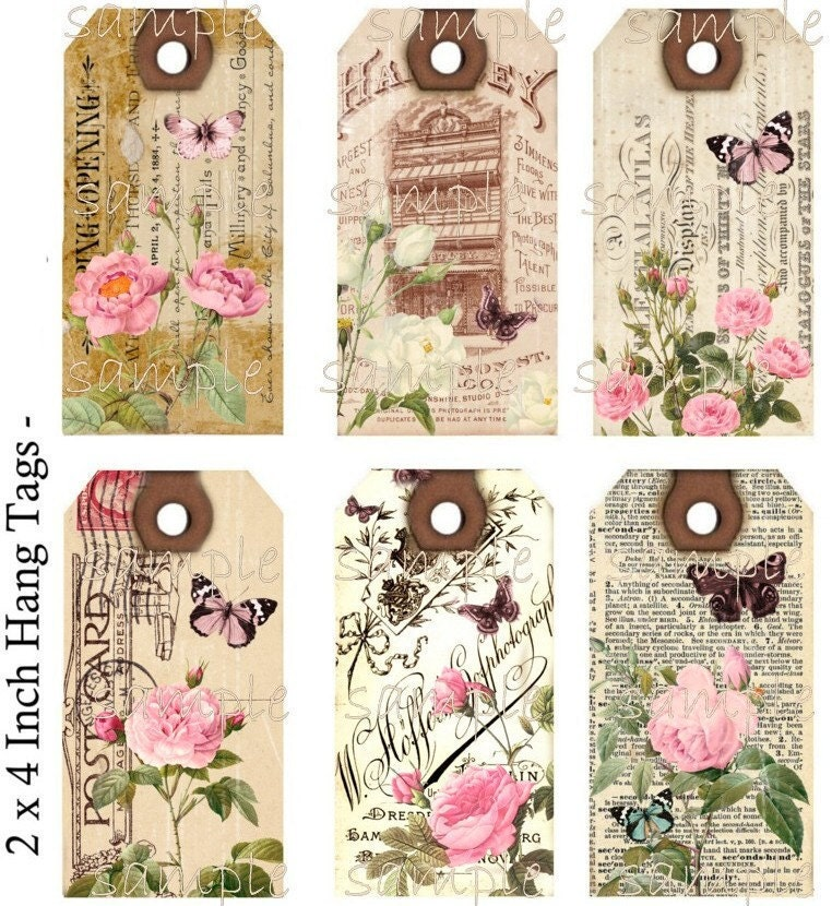 instant download hang tags shabby meets by countryatheart2008. Black Bedroom Furniture Sets. Home Design Ideas