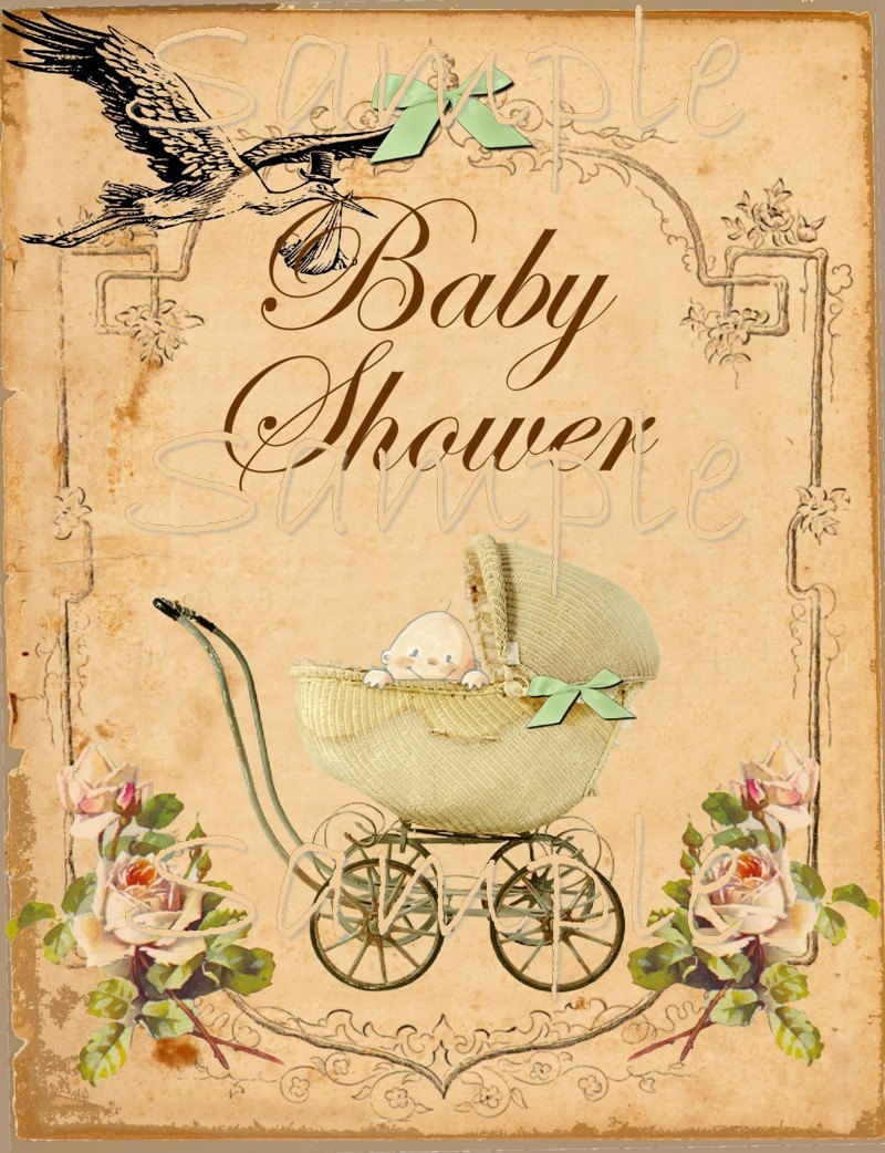 Remarkable image regarding printable baby shower card