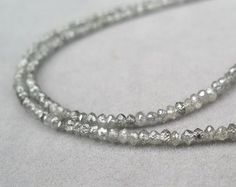 grey diamond bead necklace by rockedjewelry