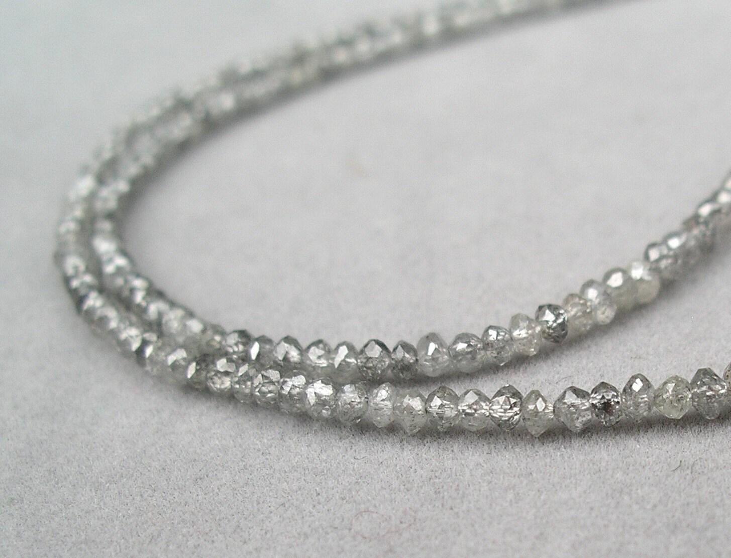 Diamond Bead Necklace