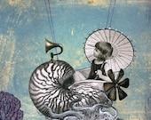 Undersea Steampunk - Emma the Nautilus-naut PRINT