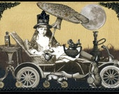 Steampunk Alice in Wonderland - Print