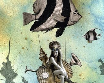 Valenzia and her Angelfish Racer PRINT