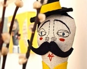 Fabric, cloth, textile, soft sculpture, Circus Doll, The Ringmaster