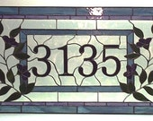 Stained Glass Transom - Traditional Floral (AM-13)