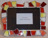 Chunky Stained Glass Picture Frame - Bright & Contemporary (F-9)
