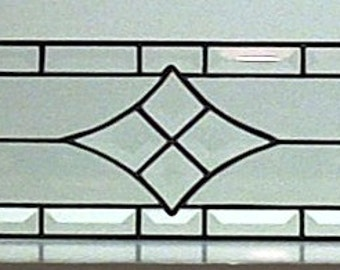 Stained Glass Window  / Simple Beveled Design (W-1)