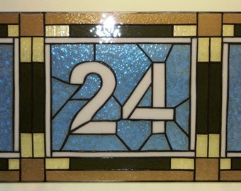 Stained Glass Transom - Mission Style (TW-5)