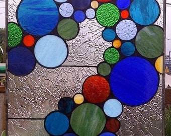 Stained Glass Panel - Bubbles and More Bubbles (P-5)