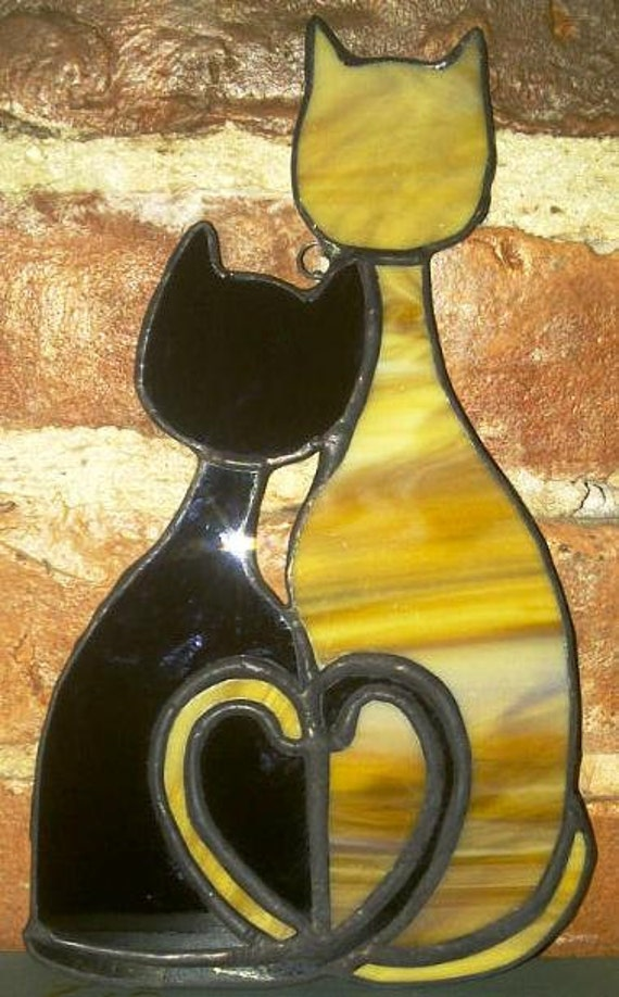 Cozy Cats - Stained Glass Sun Catcher (G-7)