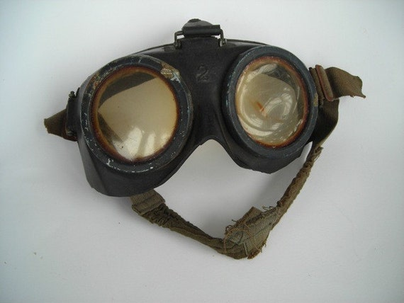 Vintage Gas Mask Goggles